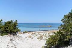Залив Orosei в Сардинии, Италии Стоковое Изображение