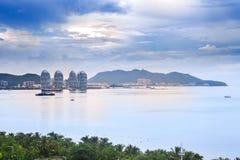 Залив Sanya, остров Хайнаня, Китай Стоковое фото RF