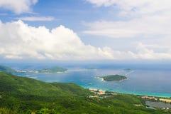Залив Sanya Yalong, взгляд от горы Стоковые Фотографии RF