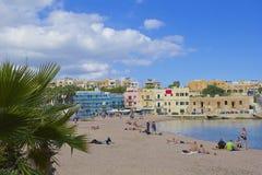 Залив St George, St Julians, Мальта стоковое изображение