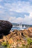Залив St Tropez - французской ривьеры стоковое изображение rf