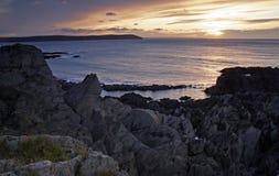 Залив Woolacombe утесистый Стоковое фото RF