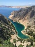 Залив Zavratnica в Хорватии Стоковые Фото