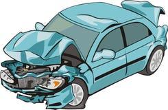 задий автокатастрофы передняя Стоковая Фотография