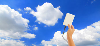 За исключением данных к облаку Стоковые Изображения RF
