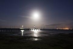 Залитый лунным светом залив Стоковое Изображение RF