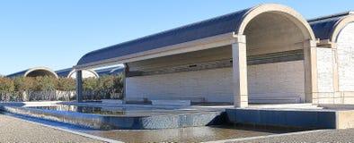 Зад музея изобразительных искусств Fort Worth Kimball, Техаса Стоковая Фотография