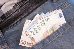 заднее карманн евро Стоковая Фотография RF