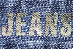заднее карманн джинсыов предпосылки Стоковая Фотография RF