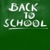 заднее название школы зеленого цвета chalkboard предпосылки к Стоковая Фотография