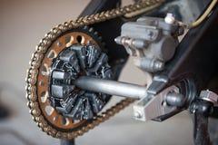 Заднее цепное колесо и цепной велосипед спорт Стоковая Фотография