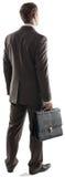 Задний взгляд бизнесмена стоя с портфелем Стоковое Изображение RF