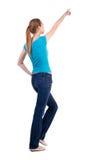 Задний взгляд гуляя женщины Стоковые Фотографии RF