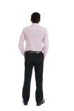 Задний взгляд индийского мужчины дела Стоковые Фотографии RF