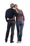 Задний взгляд молодых пар Стоковые Фото