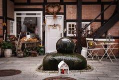 Задний двор в Шверине, Германии Стоковая Фотография
