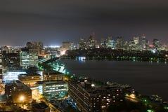 Задний залив и ноча Overcast Кембридж Стоковое Изображение RF