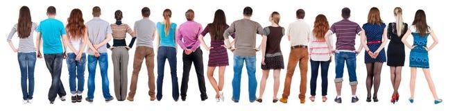 Задний смотреть группы людей взгляда Стоковые Фотографии RF