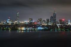 Задняя антенна ночи Overcast залива Стоковая Фотография