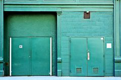 Задняя дверь переулка Стоковые Фото