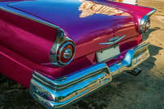 Задняя деталь винтажного автомобиля в Гаване Стоковое Фото