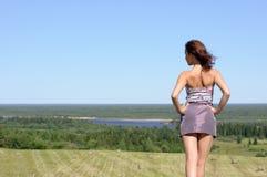 задняя женщина Стоковое Изображение RF