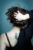 задняя женщина tatto Стоковое Фото