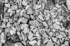 Задняя и белая каменная текстура утеса Стоковое Изображение RF