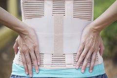 Задняя поддержка для задней части мышцы Стоковое Фото