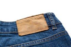 Задняя сторона голубых джинсов Стоковое Фото