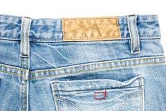 Задняя сторона голубых джинсов Стоковое Изображение