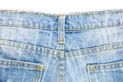 Задняя сторона голубых джинсов Стоковая Фотография RF