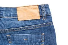 Задняя сторона голубых джинсов Стоковое Изображение RF