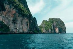 Задняя сторона залива Майя Стоковое Изображение