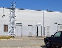 Задняя сторона здания склада Стоковая Фотография