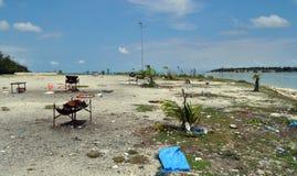 Задняя сторона мальдивского. Hulhumale Стоковая Фотография