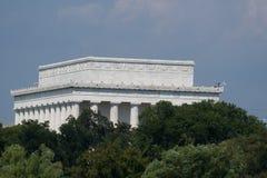 Задняя сторона мемориала Линкольна Стоковое Изображение