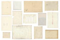 Задняя сторона от винтажных листов бумаги фото Стоковые Изображения RF