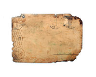 Задняя сторона старой открытки Стоковое Фото