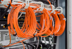 Задняя сторона шкафа сервера Стоковая Фотография