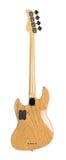 Задняя сторона электрической басовой гитары Стоковое Фото