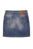 Задняя сторона юбки джинсовой ткани Стоковая Фотография RF
