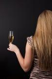 Задняя часть гостя партии Шампани Стоковые Изображения