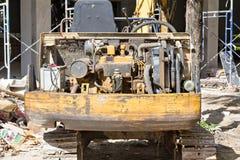Задняя часть гусеничного трактора Стоковая Фотография