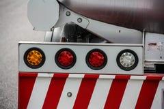 Задняя часть красной пожарной машины Стоковое Фото
