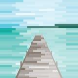 Задняя часть дороги пляжа Стоковое Изображение