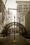 задняя часть переулка городская Стоковое Изображение RF
