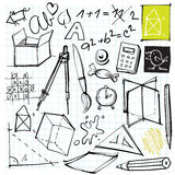 задняя часть doodles школа к Стоковые Фотографии RF