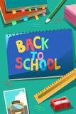 задняя школа плаката к Стоковое Изображение