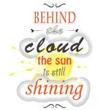 За облаком солнце все еще светит иллюстрация вектора